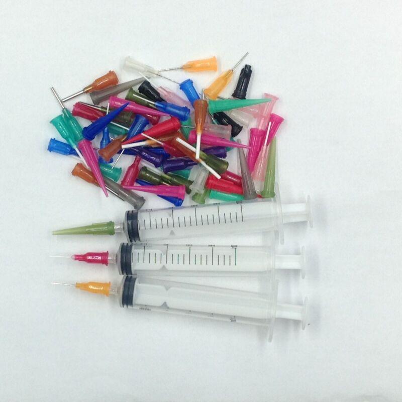 10CC 10ML Syringe Fluid Epoxy Cyanoacrylate Paint Adhesive Dispenser