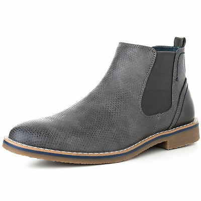 Alpine Swiss Mens Nash Chelsea Boots Snakeskin Ankle Boot Ge