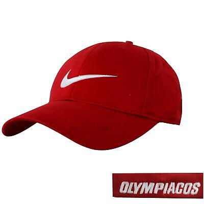 Nike Mens Basketball Fitted Cap Red Olympiacos Hat 344243 648