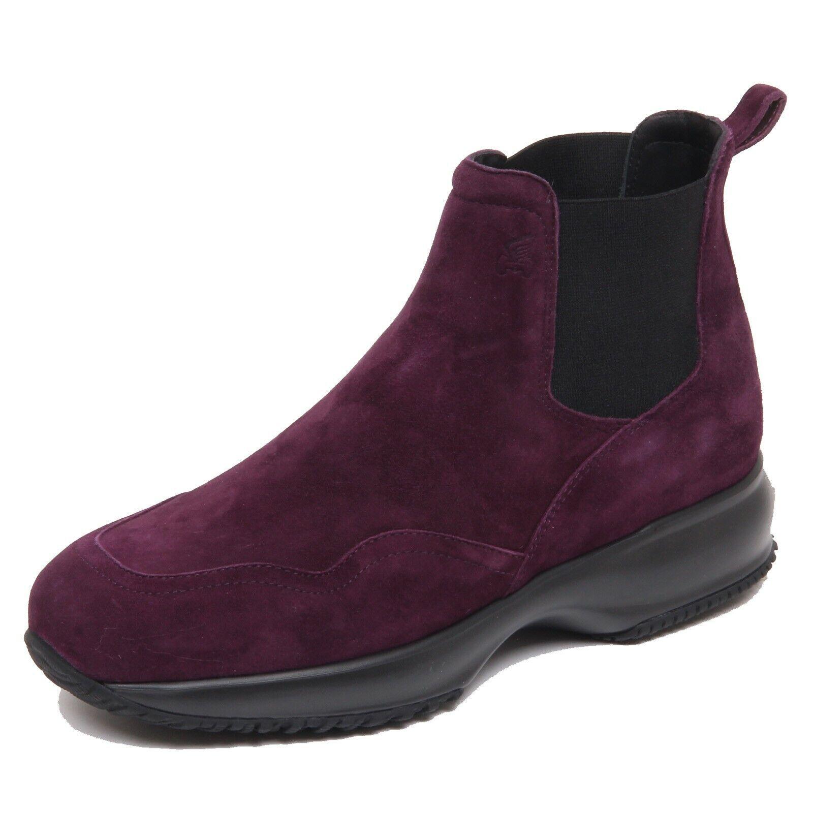 F6344 beatles donna dark purple HOGAN INTERACTIVE CHELSEA boot shoe woman