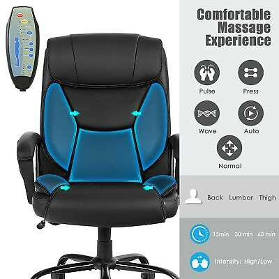 Big Tall 500lbs Massage Executive Office Desk Computer Chair W Pu Leather