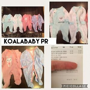 Preemie baby girl cloth onesies x4