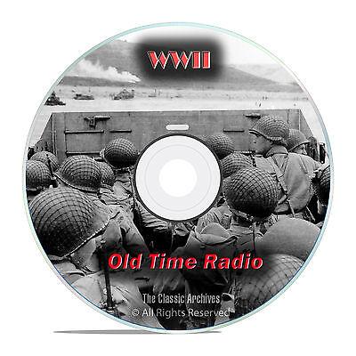 World War II Radio Broadcasts, WWII, 1,171 Old Time Radio Shows, OTR, DVD CD G03