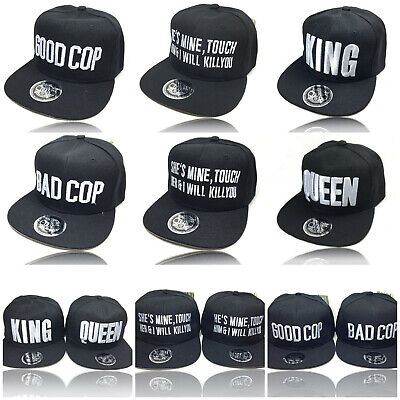 Back Baseball Kappe (KING & QUEEN - GOOD COP BAD  Partner Snapback Baseball Cap Kappe Toxic)
