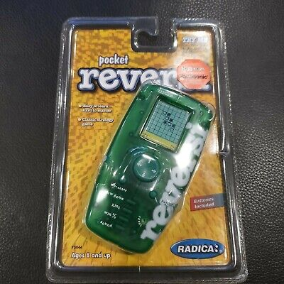 POCKET REVERSI - Radica sealed game w batteries WORKS! NOS new old stock green  for sale  Shipping to India
