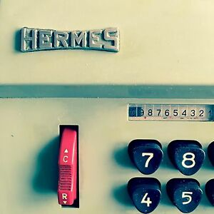 Machine-a-calculer-Hermes-Precisa-109-7-Vintage-Hermes-Adding-Machine-an-50-60