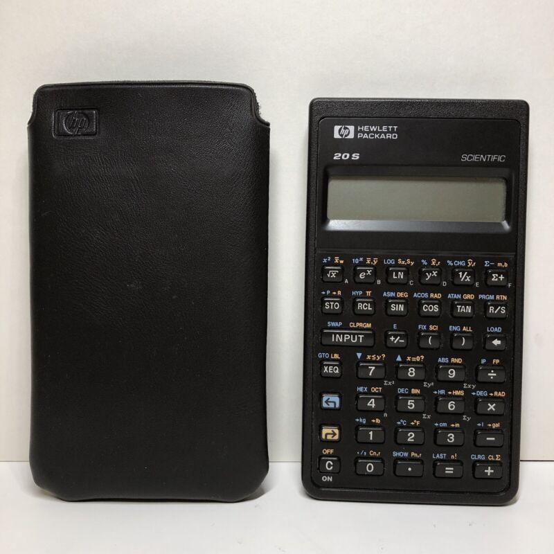 Hewlett Packard HP 20 S Scientific Calculator with Soft Case Working