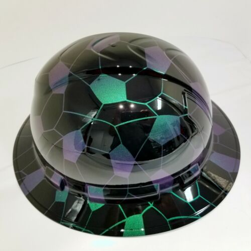 FULL BRIM Hard Hat custom hydro dipped COLOR SHIFT HEX CAMO BLACK SUPER SICK 3