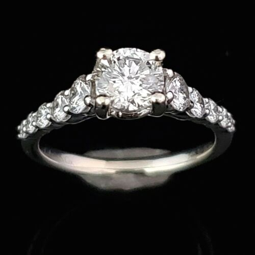 Estate 1.72ct tdw Gabriel & Co. Diamond 14k White Gold Ring Engagement Bridal
