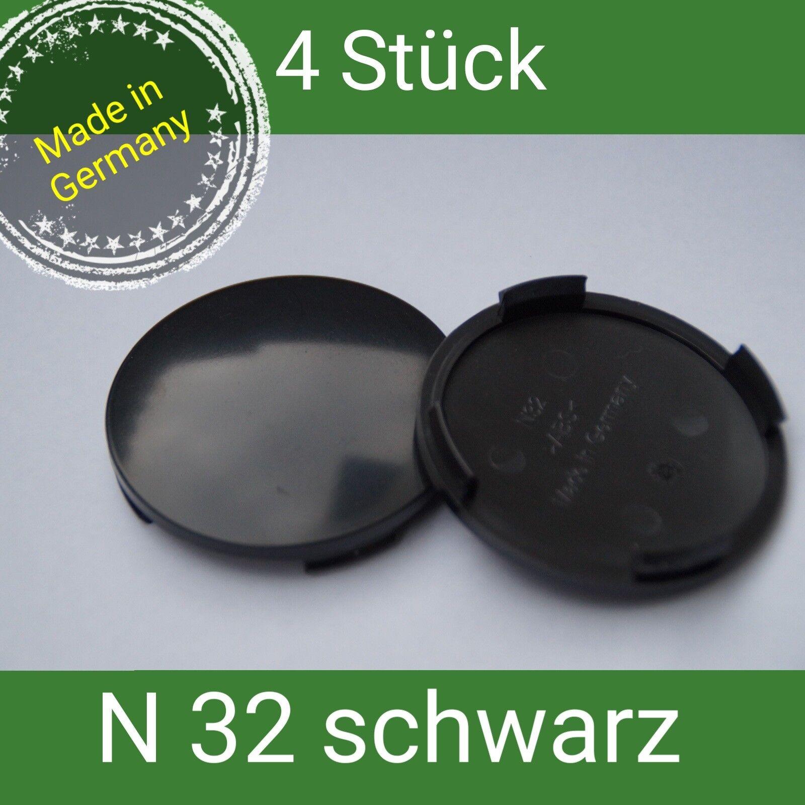 N 32  schwarz Nabenkappen  Felgendeckel 64 mm Rial Alutec  4 St.