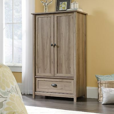 دولاب جديد Armoire – Salt Oak Finish – County Line Collection (419458)