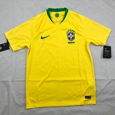 Nike 2018 World Cup Brazil Brasil Home Soccer Jersey Yellow 893856-749 Men's S Brazil Soccer World Cup