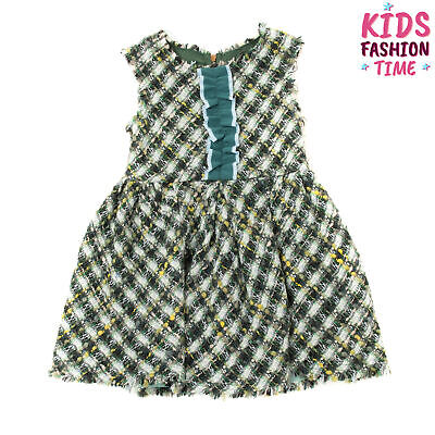 RRP €220 MIMISOL Tweed A-Line Dress Size 4Y / 104CM Wool Blend Made in Italy