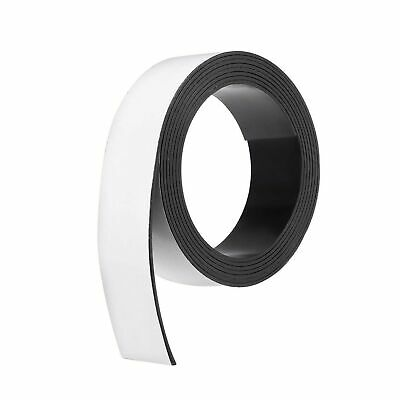 uxcell Dry Erase Magnetic Strip 1 3/16 Inch x 6.5 Feet Magnetic Tape Sticky L...
