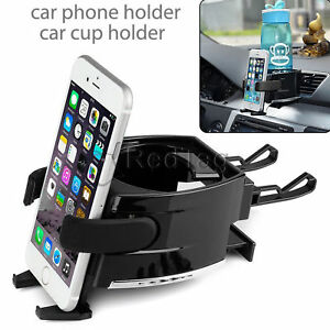 Universal Car Vehicle Truck Air Vent Mount Drink Cup Bottle Holder For Cellphone