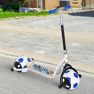 HOMCOM Scooter Infantil Patinete para Niños Rueda Goma Fútbol Manillar Ajustable