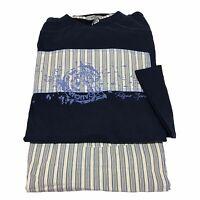 Ragno Sport Man Pajamas Long Sleeve Blue/striped 100% Cotton - spider sport - ebay.co.uk
