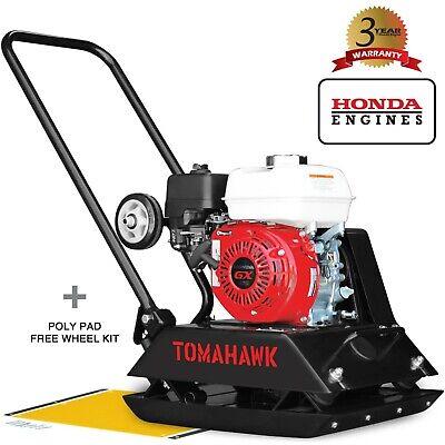 Vibratory Plate Compactor Honda 5.5hp Asphalt Soil Tamper Gx160 Engine Wheel Kit