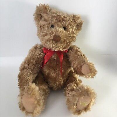 "Hallmark Cards Crown Brown Bear Jointed 13"" Plush"