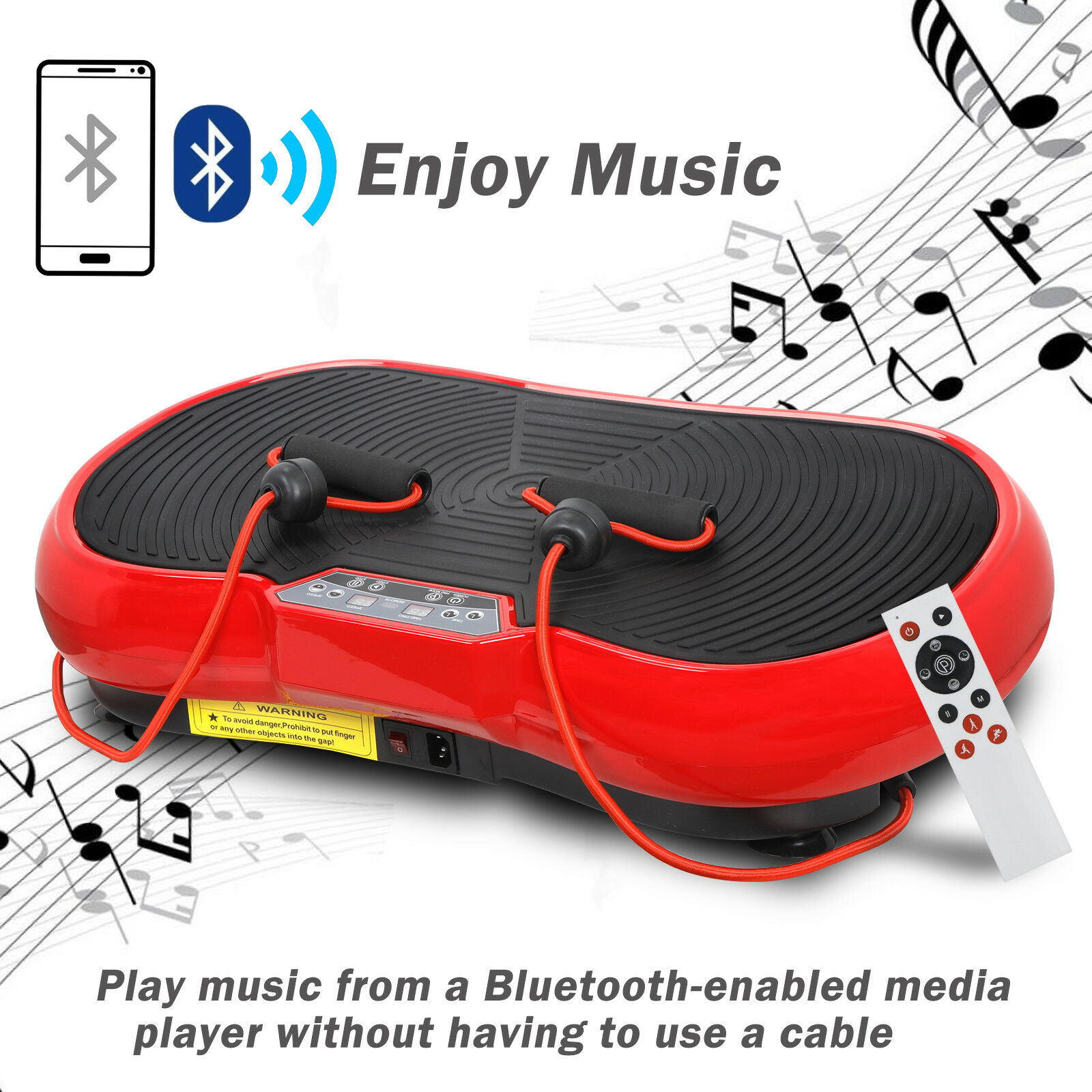 Vibration Plate Whole Body Exercise Trainer Machine Platform Massager RED Health & Beauty