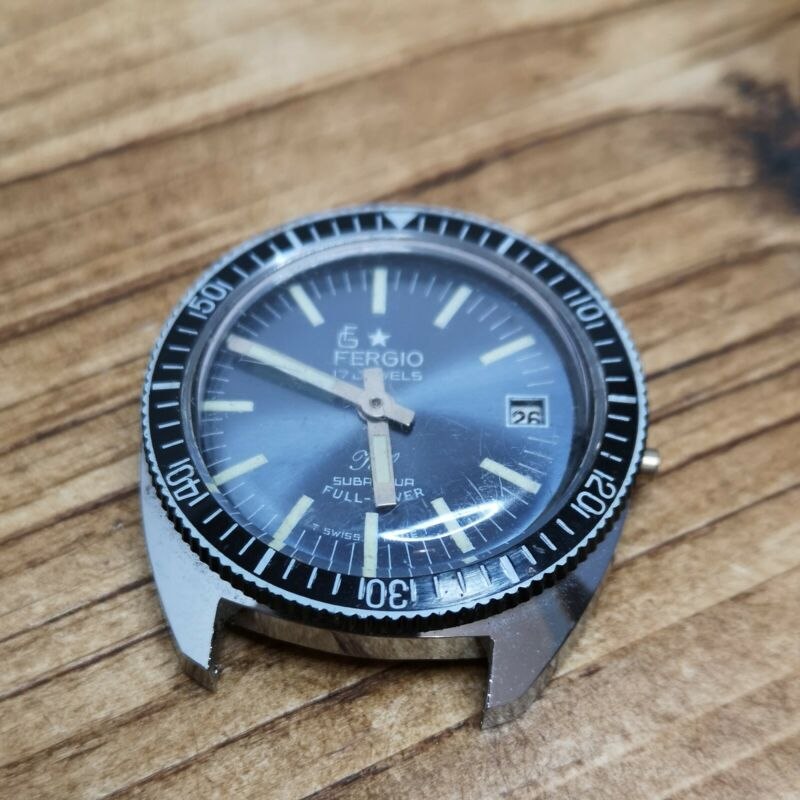 """Nice """"Fergio"""" Divers Watch for Restoration, Very Good Condition (Y93)"""