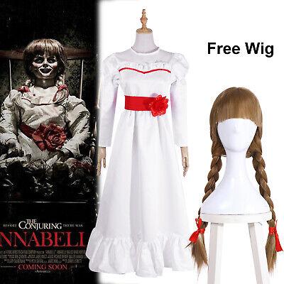 The Conjuring Annabelle Doll Cosplay Kostüme Fancy Kleid - Annabelle Kostüme
