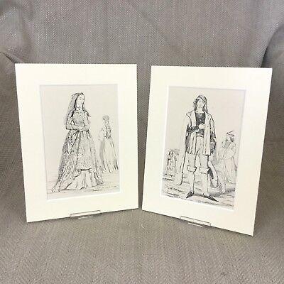 1842 Antik Mode Aufdrücke King Henry VII Kostüm Kunst Textil - Kunst Geschichte Kostüm