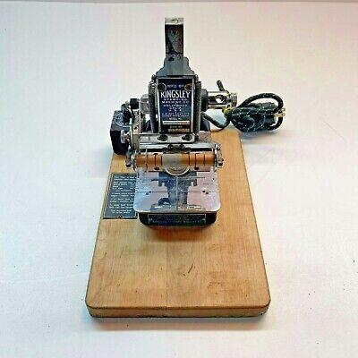 Working Antique Kingsley Hot Foil Stamping Machine Accessories Original Case
