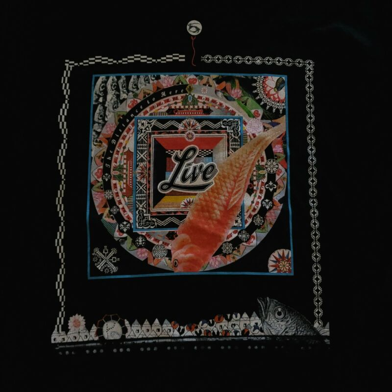 Live Rock Band The Distance To Here Winter 2000 Vintage Concert Tour Shirt XL