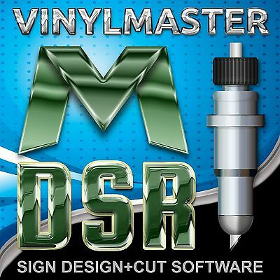 VinylMaster DSR V4 Sign Design Layout & Cut Software for Vinyl Cutting Plotters
