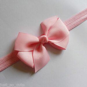 Baby Girls Bow Headband Hairband Soft Elastic Band Hair Accessories 3 inch bow