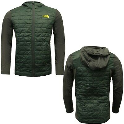 The North Face Mens Thermoball Active Hooded Jacket Green NF0A365GHCD X19B