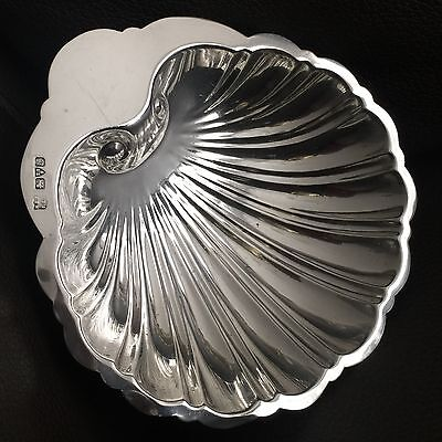"Antique (1917) Baker Brothers Chester Hallmarked 5"" Sterling Silver Shell Dish"