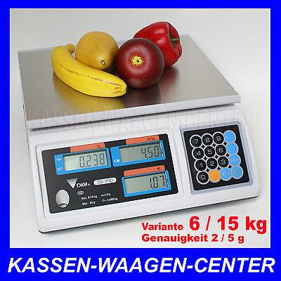 GEEICHTE Verkaufs Markt Laden WAAGE - Wägebereich 6/15kg -  vom Fachhändler