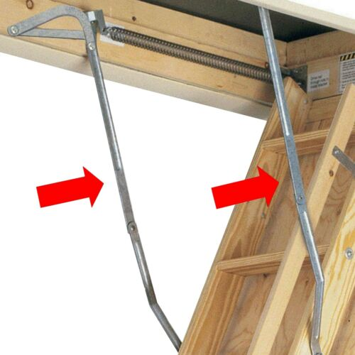 Pair Attic Ladder Spreader Hinge Arms - MFG 2006 And Older