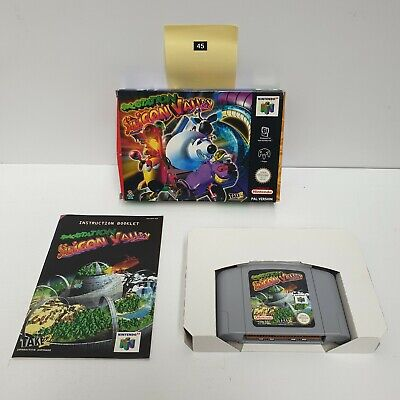 Spacestation Silicone Valley N64 Nintendo 64 Game boxed Complete PAL oz45