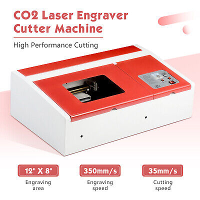 12x8 Co2 Laser Engraving Cutting Machine Commercial Engraver Cutter 40w Usb