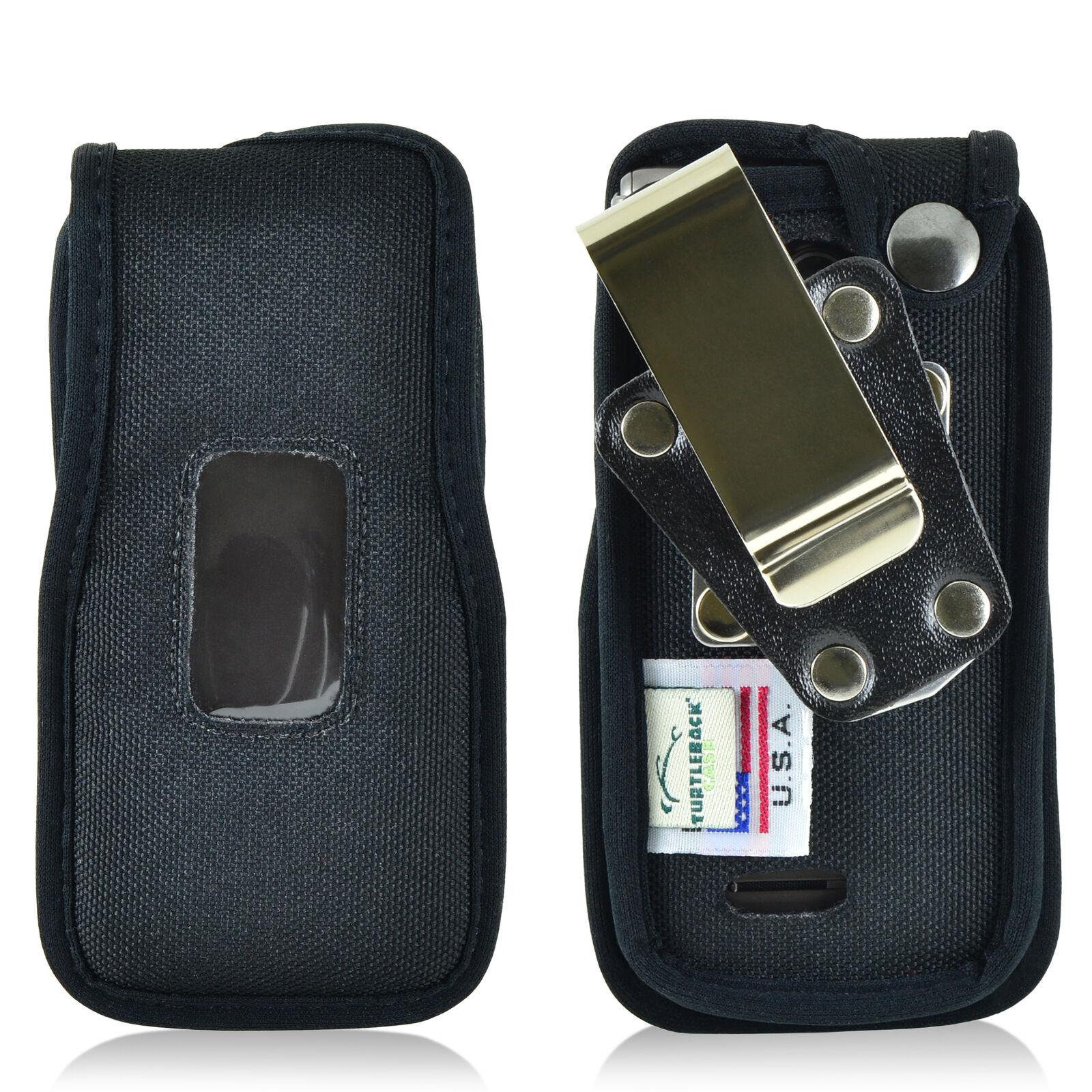 lg-exalt-2-ii-vn370-flip-phone-case-turtleback-black-nylon-removable-metal-clip