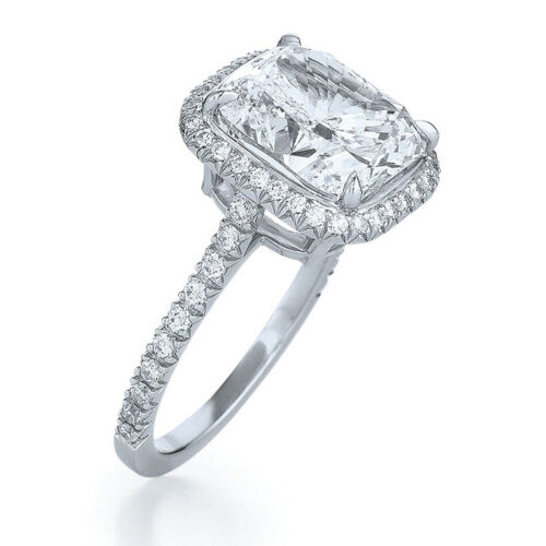 4.21 Carat 18k White Gold Cushion cut Diamond Engagement Ring GIA Certified 1