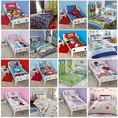 CHARACTER DISNEY JUNIOR TODDLER BED DUVET COVERS BEDDING SOFIA CARS PAW PATROL ()