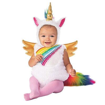 Toddler Rainbow Costume (Baby Toddler Girls Rainbow Unicorn Pegasus Halloween Birthday Costume Gold)
