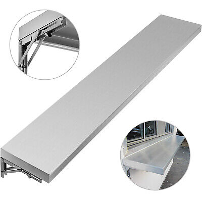 6 Foot Shelf For Concession Window Removable 1.89h With 2 Folding Brackets