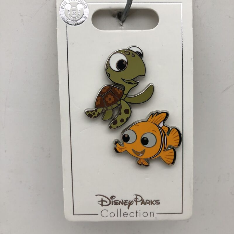 Disney Parks Pin Pixar Finding Nemo & Squirt Turtle 2 Trading Pins Set