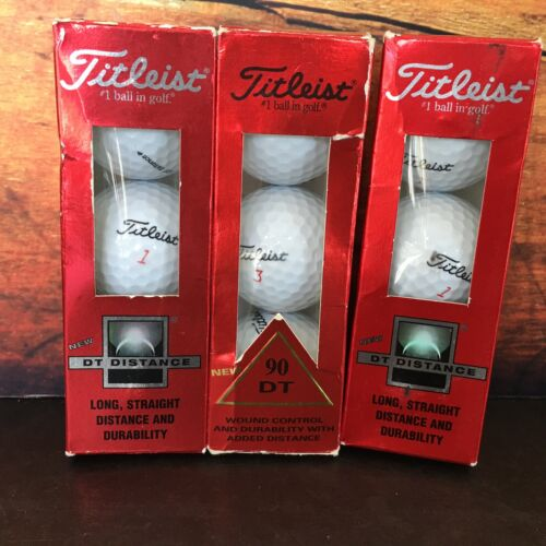 Titleist DT + 90 DT 3 Sleeves of 3 Golf Balls Each