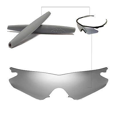 14b3403ac2 Walleva Polarized Titanium Replacement Lenses+Earsocks For Oakley M Frame  Heater