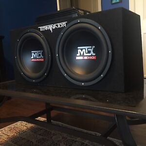 MTX Terminator subwoofer speaker with amp