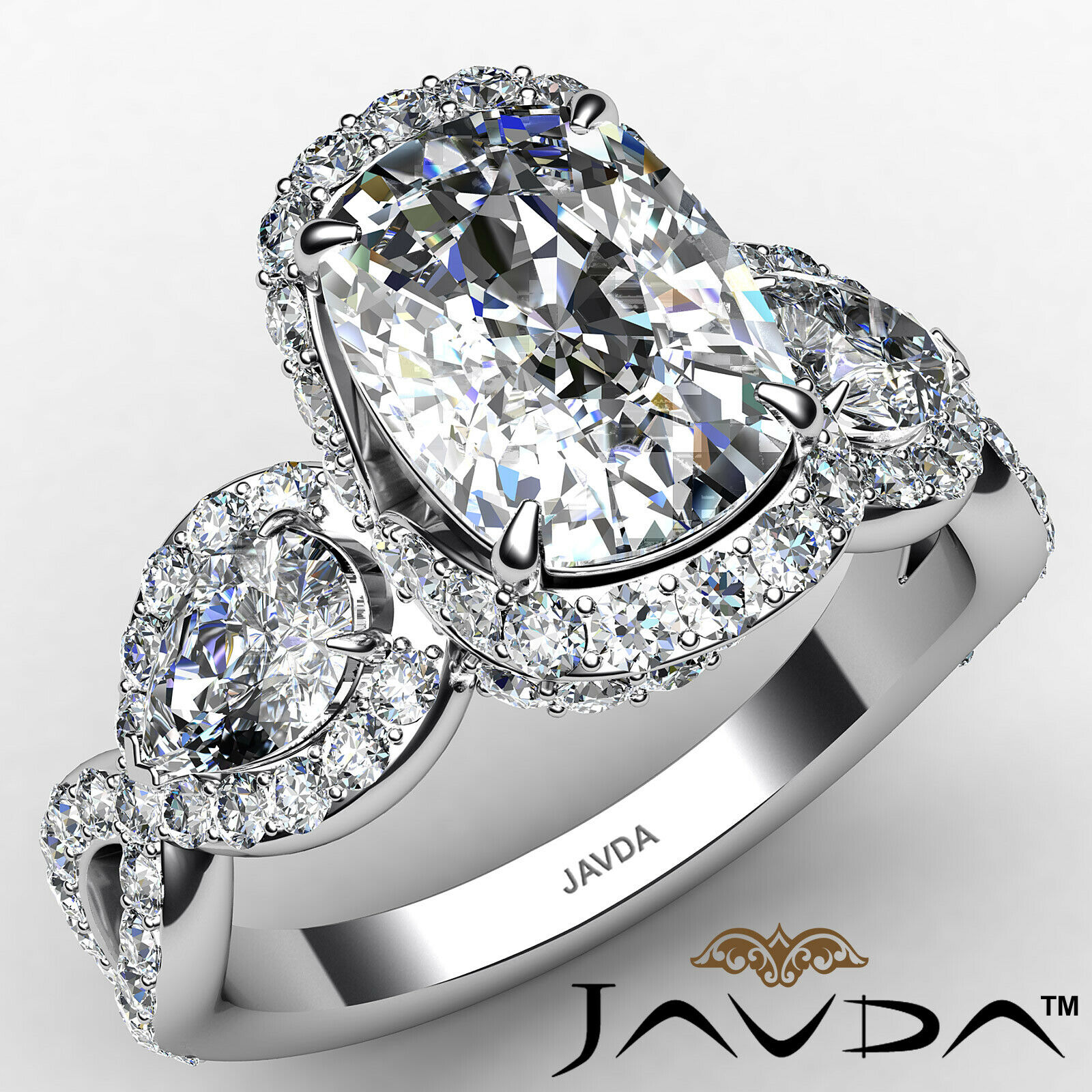 Halo Cushion Diamond Engagement Ring GIA Certified J Color & VS2 clarity 2.4 ctw