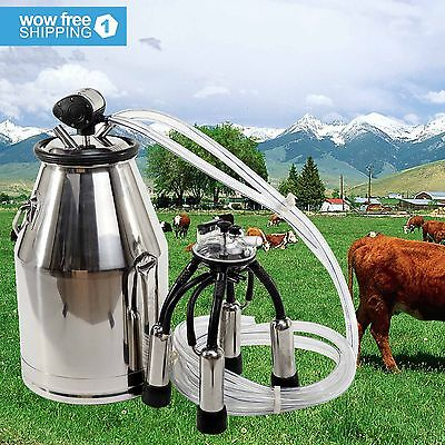 Stainless Steel Milk Bucket Cow Milker Dairy Cow Milking Equipment Quality