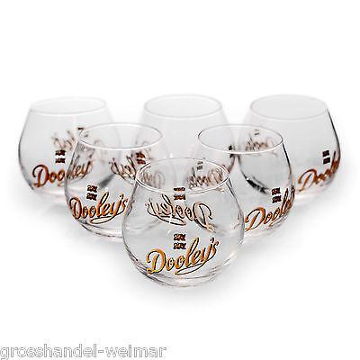 Dooley´s Tipper Dooleys Glas Gläser 2 und 4 cl Schnapsglas 6 Stück