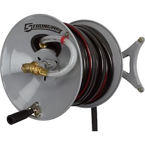 Strongway Wall-Mount Garden Hose Reel - Holds 150ft. x 5/8in. Hose